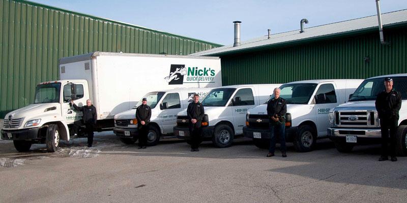 Nick's Quick Delivery Fleet